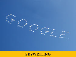 skywriting font vector